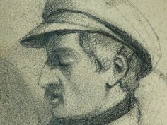 Details of drawing Museum Paris, Courbet, Paris France, Portraits, Drawings, Artwork, Man Sitting, Old Bridges, Men Portrait