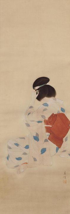 YAMAKAWA Shûhô(山川秀峰 Japanese, 1898-1944) Summer (Natsu 夏) ink and color on silk