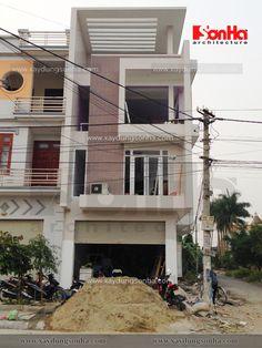 nhà phố hiện đại 4 tầng