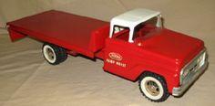 1962 Tonka Red Ramp Hoist Truck-NEAR MINT ORIGINAL