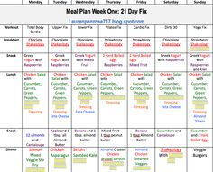 21 Day Fix Meal Plan                                                                                                                                                      More