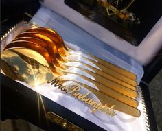 See The Gold Spoons Malivelihood Designed For Mrs Babangida (Photo) - http://www.77evenbusiness.com/see-the-gold-spoons-malivelihood-designed-for-mrs-babangida-photo/