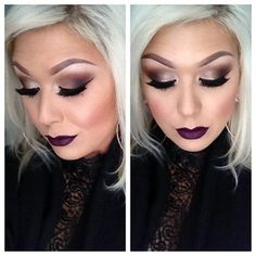 Dark makeup look x...gonna try to recreate this look