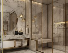 New Bathroom Interior Modern Luxury 68 Ideas Modern Luxury Bathroom, Contemporary Bathroom Designs, Bathroom Design Luxury, Modern Interior Design, Modern Bedroom, Luxury Bathrooms, Minimalist Bathroom, Modern Interiors, Modern Villa Design