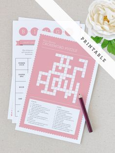 Printable Baby Shower Games  Pink by twigandthistlestore on Etsy, $10.00