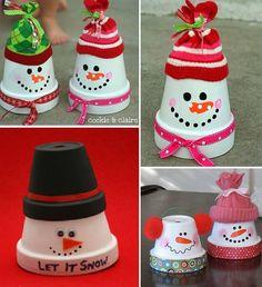 Des bonhommes de neige pour votre #déco de #Noël