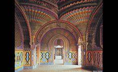 A hall in the Castello di Sammezzano in Reggello, Tuscany