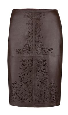 "~ Living a Beautiful Life ~ ""LASER"" brown laser-cut leather skirt Leather A Line Skirt, Brown Leather Skirt, Beautiful Outfits, Beautiful Life, Cool Outfits, Laser Cut Leather, Build A Wardrobe, Fall Skirts, Fashion Details"