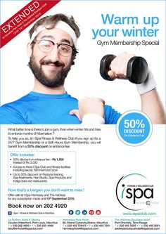 I Spa at Indigo Hotels: Extended - 50% DISCOUNT on Gym Membership Entrance Fee. Tel: 202 4920