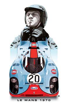 Lemans Racing Digital Art by Gary Grayson Vintage Sports Cars, Exotic Sports Cars, Vintage Racing, Sport Cars, Race Cars, Grand Prix, Cool Car Drawings, Porsche Motorsport, Vintage Porsche
