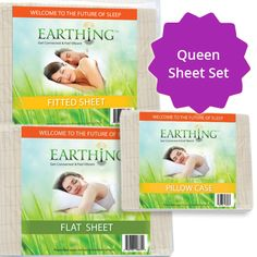 Sleeping Earthed is also the perfect way to reduce inflammation throughout the whole body. All Earthing Sleep Systems are made from cotton with a conductive grid of silver thread woven through it. Single Sheets, Earthing Grounding, Welcome To The Future, King Sheet Sets, Electrical Outlets, Reduce Inflammation, Sleep