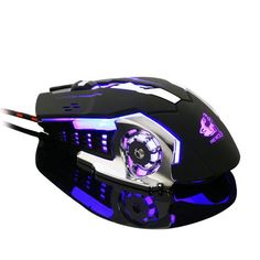 Gaming Mouse Computer Peripherals 6 Button Wired Mouse 7 Color Breathing Lamp Ajustable 4000DPI USB Mice Mechanical Mouse Gamer