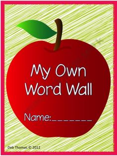 """$5.00 My Own Word Wall"""" is a wonderful resource for students to use when they need something they can pull out quick and have on top of their desk.  They can add words, friend's names, family names and themed words to the lists.  This is not intended to replace the classroom word wall since some classroom activities revolve around it (writing the room)."""