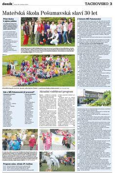 2013 05 28 - Tachovský deník. Mateřská škola Pošumavská slaví 30 let.