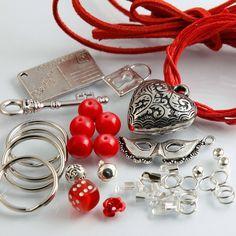 selber machen Schlüsselanhänger bastelset pakket basteln perlen Anhänger