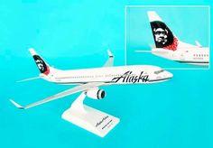 "Skymarks Alaska Airlines ""Eskimo Lei"" Boeing 737-800w 1/130 Plastic Model"