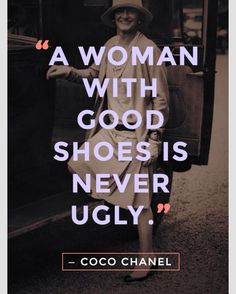 A woman with shoes