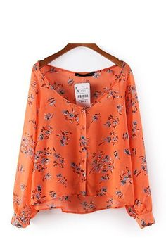 This Chiffon Floral Blouse ++