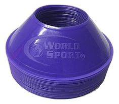 Discounted World Sport Mini Disc Cones 25 Pack (11 Colors to Choose from) #WorldSportMiniDiscCones25Pack(11ColorstoChoosefrom) Sports Training, Soccer, Packing, World, Colors, Mini, Bag Packaging, Futbol, European Football