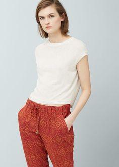 Pantalon baggy imprimé - Pantalons pour Femme   MANGO France