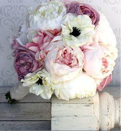 Ramos de Novia : Ramo de novia artificial : rosas combinados