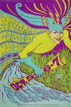 Quicksilver Messenger Service Poster Fillmore Auditorium (San Francisco, CA) Oct 5, 1967