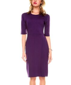 Look what I found on  zulily! Purple Sheath Dress - Women  zulilyfinds  Vintage 37c27daf02b87