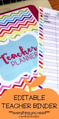 Everything you need to keep it all straight. Editable Teacher Binder and Teacher Planner so you can get organized and save time. This includes Common Core and TEKS just add them to your lesson templates, and yearly calendar updates. $ Take the guesswork out of what you need organizing today.