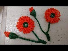 Aplique de crochê- botão e florzinha - YouTube