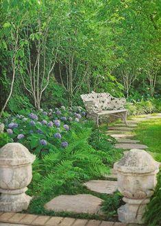 Hydrangeas And Ferns On The Private Patio. David Domoney · Inspiring Garden  Designs