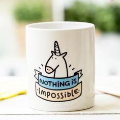 """Mr Wonderful Mug unicorn """"Nothing is impossible"""""""