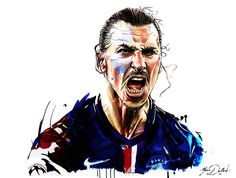 Zlatan Ibrahimovic // Football Art // by Yann Dalon