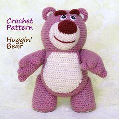 Crochet Pattern. Lotso (Toy Story) by InspiredCrochetToys on Etsy https://www.etsy.com/listing/158629387/crochet-pattern-lotso-toy-story
