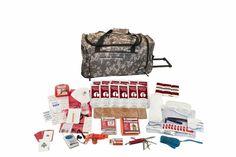 Guardian Survival Gear Deluxe Camo Wheel Bag Survival Kit