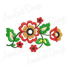 by AnnaEmbDesign Border Embroidery Designs, Machine Embroidery Designs, Embroidery Patterns, Sewing Patterns, Kerala Mural Painting, Satin Ribbon Roses, Yarn Flowers, Hand Embroidery Tutorial, Rose Embroidery