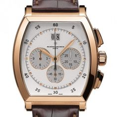 Buy Vacheron Constantin Malte Watches, authentic at discount prices. All current Vacheron Constantin styles available. Gents Watches, Cool Watches, Watches For Men, Vacheron Constantin, Moon Phases, Square Watch, Luxury Branding, Pink And Gold, Leather