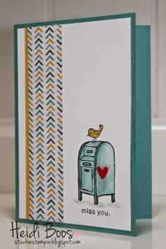the creation station blog hop - for the birds (Stuck on Stampin, Heidi Boos)
