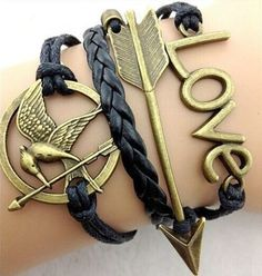 Hunger Games Mockingjay Arrow and Love Charm Bracelet