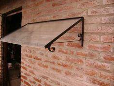 alero hierro y policarbonato para puertas ventanas, 140 x 50