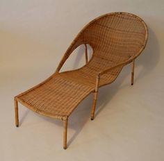 rattan chaise lounge designed by Francis Mair circa 1950 which can be found at Agapanthus Antiques.
