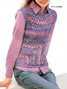 Crochet vest Pattern - Gorgeous Simple Vest #crochet #crochet_vest