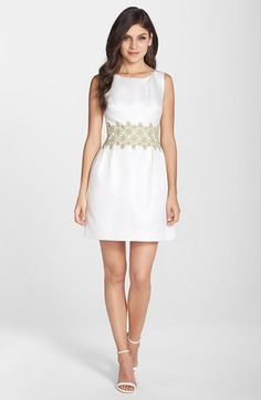 ERIN erin fetherston Embroidered Jacquard Fit & Flare Dress available at #Nordstrom