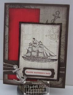Father's Day card using The Open Sea stamp set.