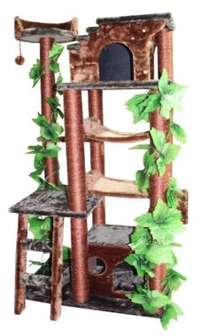 Kitty Mansions Mini Amazon Cat Tree, Green *** Want additional info? Click on the image. #CatBedsFurniture