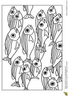 banc de poissons multicolores