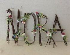 Name Woodland Nursery Letter Twig Letter Twig Monogram Rustic Rustic Wall Letters, Letter Wall, Letter Monogram, Alphabet Wall, Twig Crafts, Nature Crafts, Twig Art, Wedding Shower Decorations, Fairy Decorations