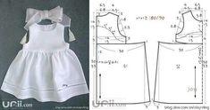 bebek çocuk elbisesi dikiş kalıbı