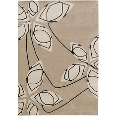 With Its Clean Stylized Design This Unique Fl Wool Rug Intertwines Clic And Contemporary