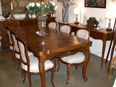 French Provincial Home, French Provincial Furniture, Antique French Furniture, French Country Furniture, 8 Seater Dining Table, Dinning Table, Dining Set, Dining Room Furniture, Furniture Design