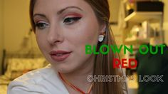 Tutorial | Blown Out Red Christmas Makeup  An easy festive makeup look to wear to parties, dinners or on Christmas Day! Pair with a nude lip or a bold red.